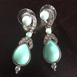 RJ Graziano Crystal Turquoise Earrings!